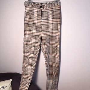 Free People Plaid Pants
